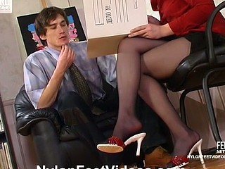 Rosa&Marcus stunning nylon feet episode