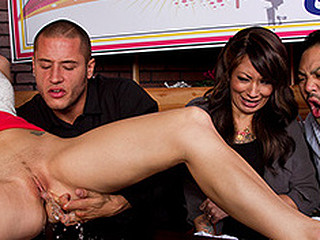 It's time for one more episode of ZZ's Got Talent! This Day on the show, Natasha Starr, who is planning on shocking and wowing the judges with her highly peculiar gift: touching her slit until this hottie squirts all over them! But Judge Danny thinks this hottie cheated, and has to check out her twat for himself previous to that dude can send her to the next round.
