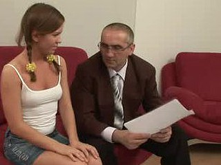 Cute hot doxy gets hardcore with old professor.