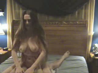 She has realy beautiful long hair and full breasts. Riding a knob is her morning sport and her horse likes the morningtrip.