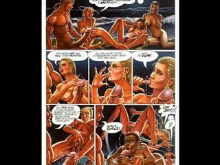 Skinny blonde loves huge cock fetish comic