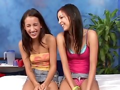 Two nasty gals are talking smutty in advance of the camera in advance of having lesbo pleasure