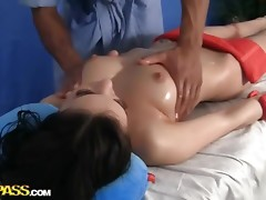 Hawt gal in cute massage sex movie